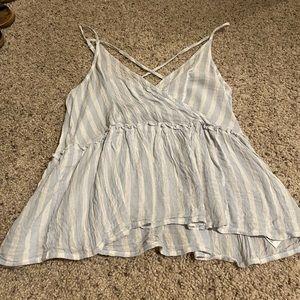 AEO striped blouse / tank
